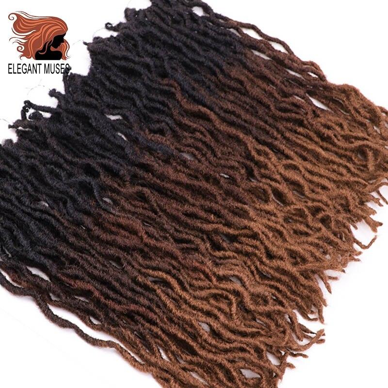 Crochet Hair Braids Curly Faux-Locs Goddess Soft MUSES Pre-Loop 12-18inch ELEGANT