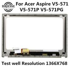 Assemblée originale d'écran tactile d'affichage à cristaux liquides de V5-571 15.6