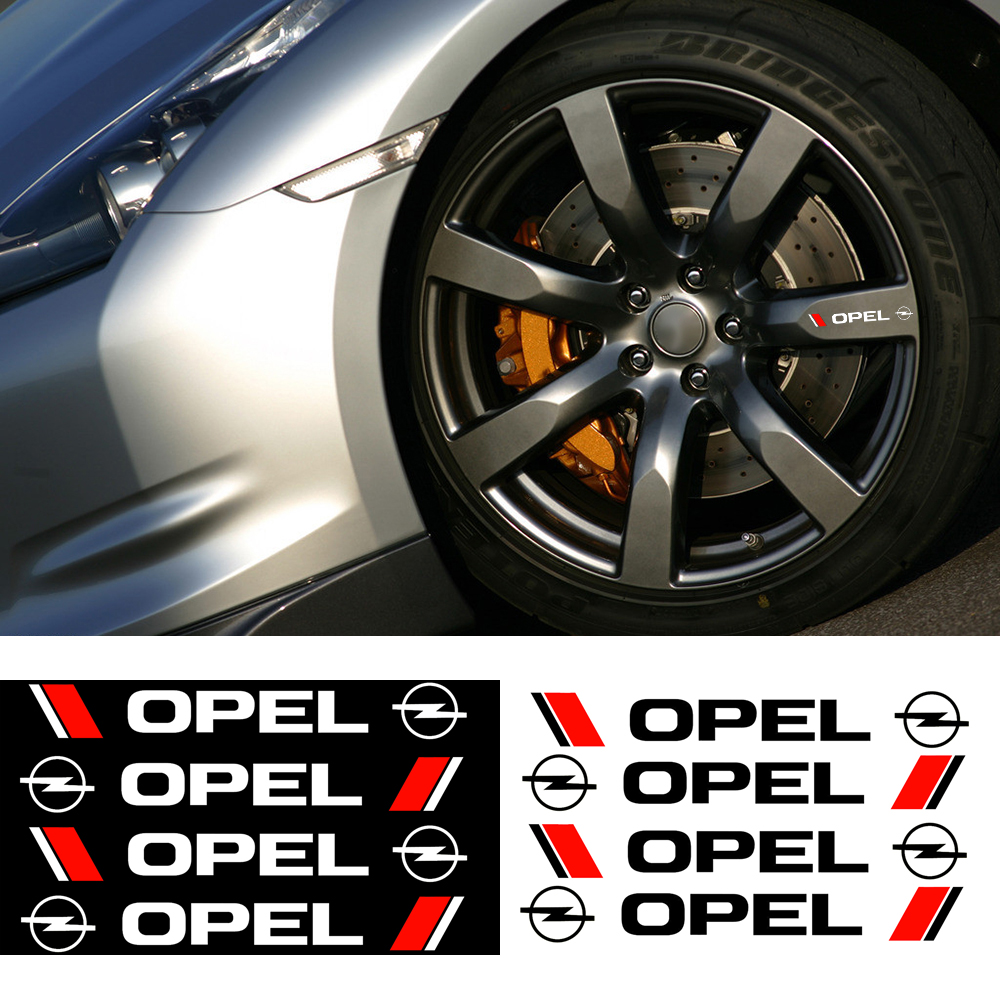 4x Alloy Rim Wheel Stickers Stripe Car Styling Car Wheel Rim Decorative Vinyl Stickers For Opel Antara Meriva Zafira Accessories