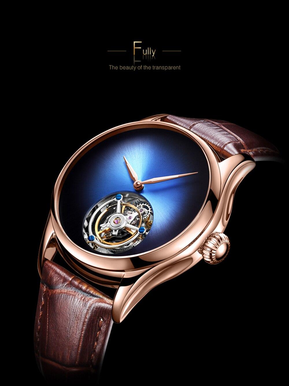 da marca luxo 100% real tourbillon relógio