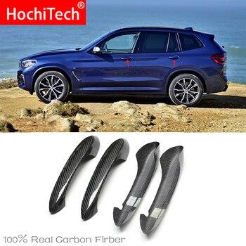 High Quality For BMW x3 G01 G08 xDrive30d M40i 2018-2020 Car Accessories Carbon Fiber Auto Door Handle Knob Exterior Trim Covers
