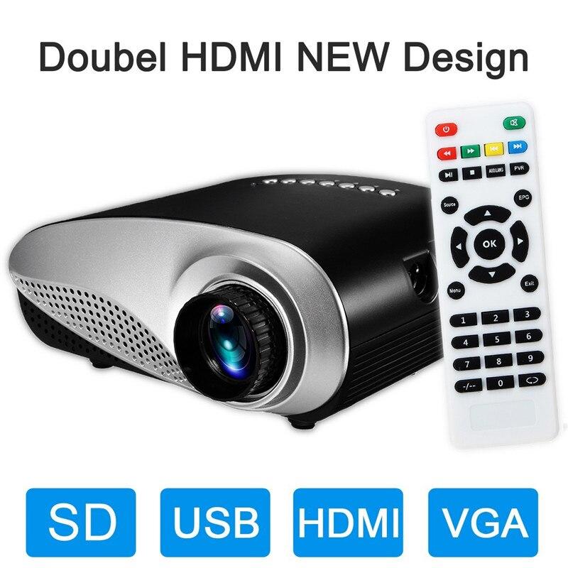 Najnowszy mini projektor wideo 600 lumenów z Full HD 1080p do kina domowego przenośny projektor projektor led do kina domowego