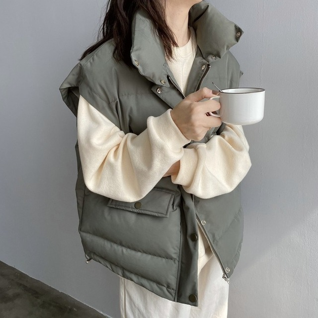 $ US $28.78 New Arrival 2020 Spring Autumn  Women Vest Cotton-padded Short Waistcoat Plus Size Sleeveless Outwear Female Casual Parka Mujer