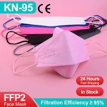 Ffp2mask ce kn95 ffp2 mascarillas ffp2reutilizável máscara respiratória fpp2 homologada europa adulto peixe máscara protetora ffp3