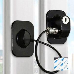 Image 5 - 4 Uds. Cerraduras de seguridad para bebés, Restrictor de ventana de acero inoxidable, cerradura de seguridad para niños, evita que los niños se caigan, bloqueo de ventana