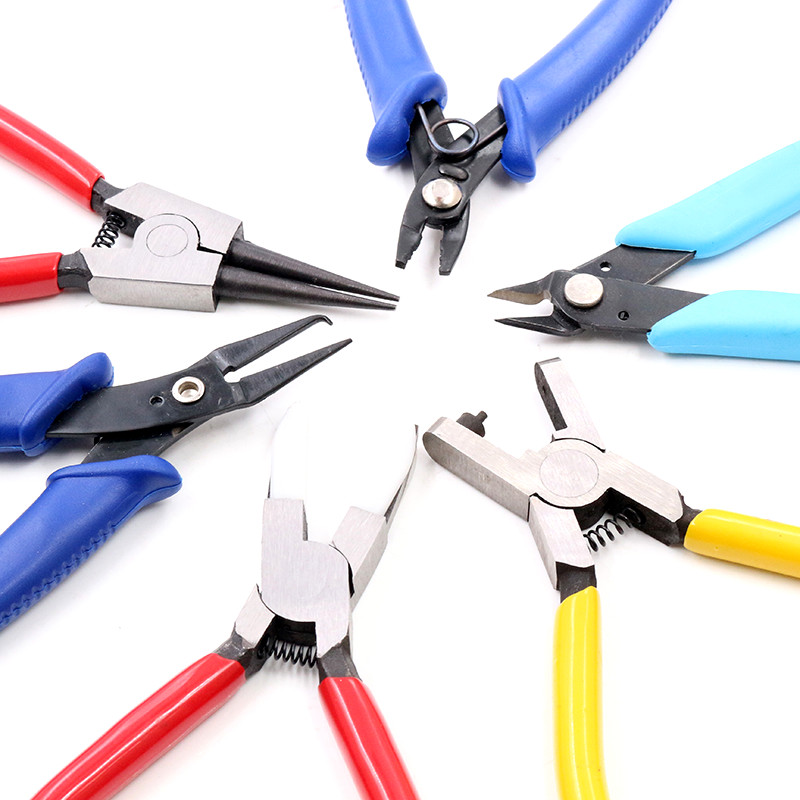 Multifunction Split Ring Opener Pliers Jewelry Beading Crimping Crimper Pliers Tool With Mini Diagonal Pliers DIY Hand Tools