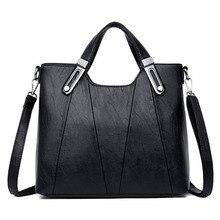 Nowe damskie skórzane luksusowe torebki torby projektant panie Crossbody torebki damskie 2019 Casual Tote Bolsa Feminina Sac A Main