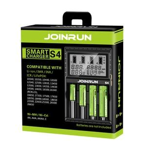Image 5 - Joinrun S4 18650 ליתיום סוללה מטען חכם 18650 סוללה מטען לli ion/Ni MH/Ni CD 18650 14500 16340 AA AAA