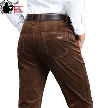 Мужские плотные брюки красного и синего цвета, свободные эластичные вельветовые брюки, Длинные прямые деловые повседневные брюки, зима весна 2020