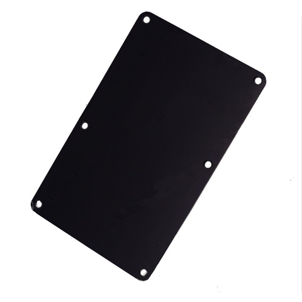 A Black Plastic 6 Screw Hole Closed Style Electric Guitar Cavity Cover Spring Cover Back Plate Wiring Cover Guitar Accessories