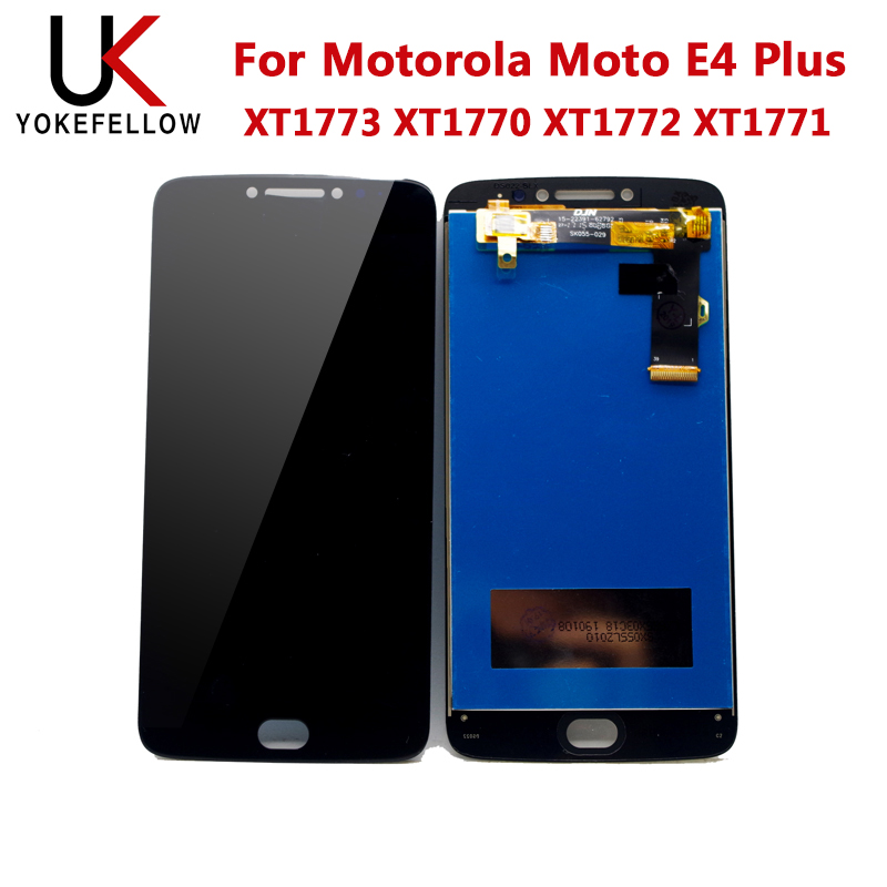 LCD <font><b>Display</b></font> For Motorola <font><b>Moto</b></font> <font><b>E4</b></font> <font><b>Plus</b></font> XT1773 <font><b>XT1770</b></font> XT1772 XT1771 LCD <font><b>Display</b></font> Digitizer Screen Complete Assembly image