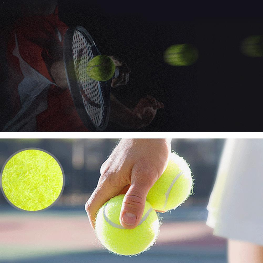 1 Pcs High Stretch Durable Tennis Practice Ball Competition Tennis Practice Professional Training Tennis Rubber F1J2