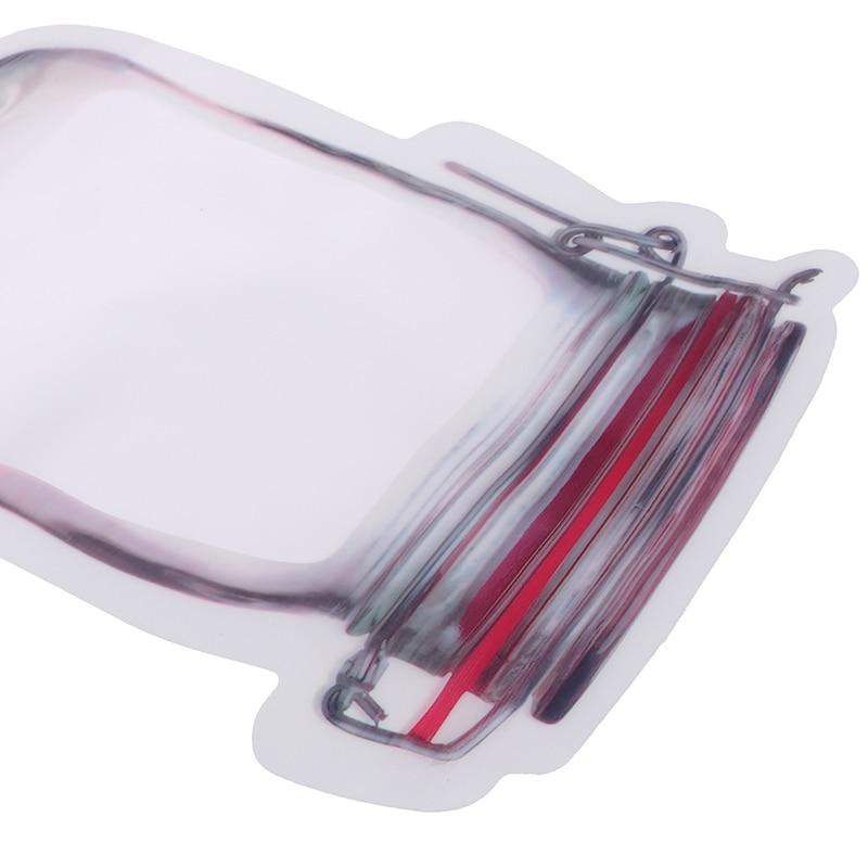 10 шт многоразовый мешок для закусок, морозильная камера, Герметичная сумка для хранения продуктов, свежие банки для бутылок, кухонный органайзер, банка для путешествий