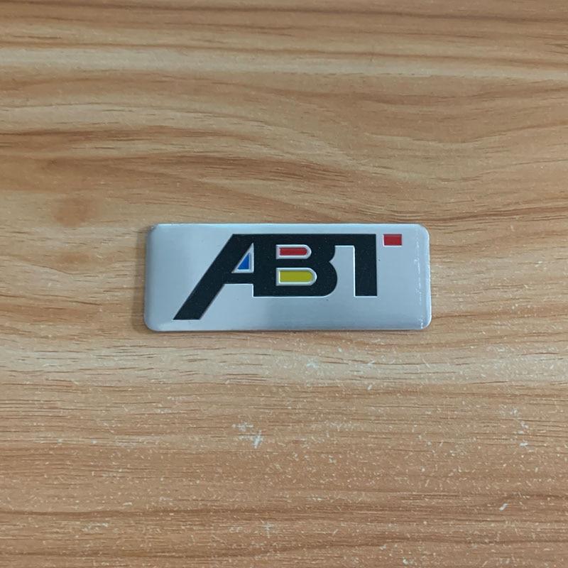 Купить с кэшбэком Aluminum Stickers for ABT Modification emblem Car sticker for Volkswagen VW Audi accessorie