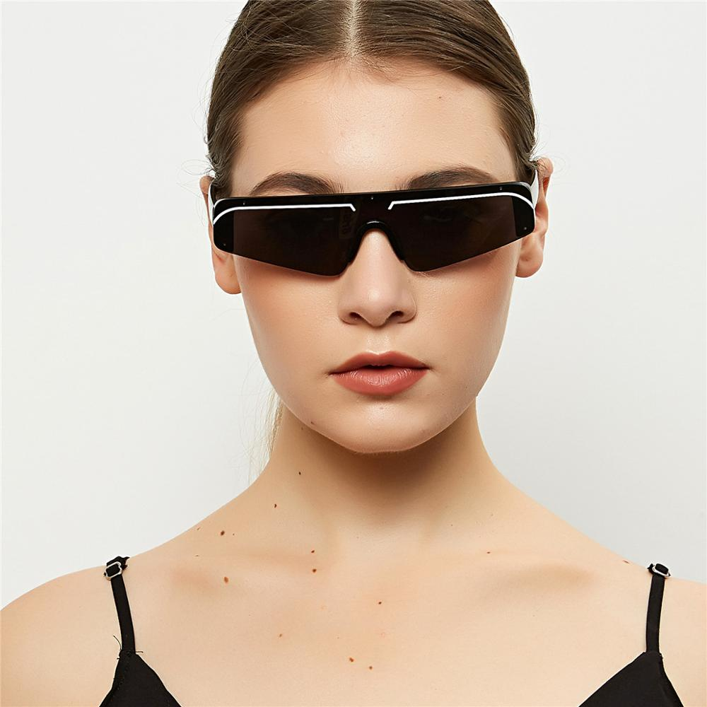 GIFANSEE Pointy Cat Eye Sunglasses Women Vintage Men Eyewear Flat Top Drive Outdoors Fashion Design Shades UV400