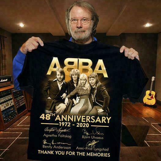 Abba 48Th Anniversary All Signed Thank You For Size S 3Xl