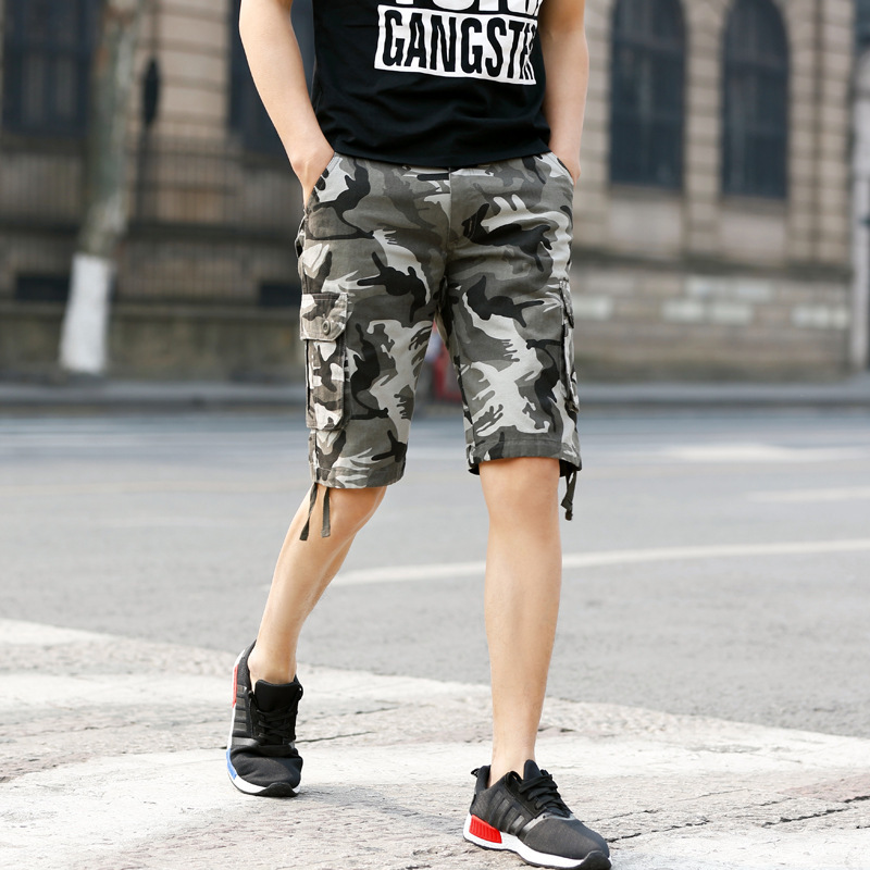 Men Camouflage Shorts Men'S Wear Casual Pants Trend Loose-Fit Summer Popular Brand Bib Overall Men's Trousers