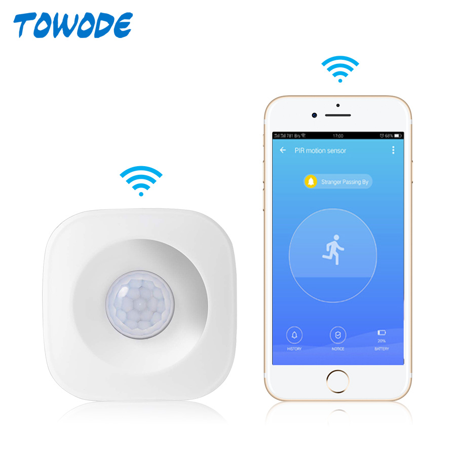 APP Control WiFi PIR Motion Detector Alarm Sensor for Home Security Wireless Mini PIR Movement Sensor