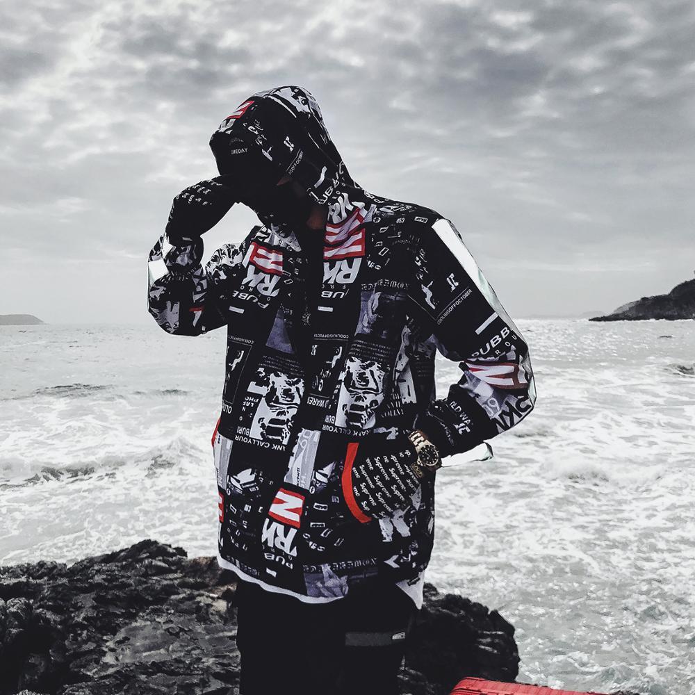Мужская ветровка в стиле хип хоп, уличная танцевальная куртка с цветными блоками в стиле Харадзюку, одежда для осени и лета|Куртки| | АлиЭкспресс
