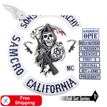 Sons of patch Anarchy embroidery Iron On Sew On motorcycle personalized rocker name OPIE custom patch tag biker clothes applique