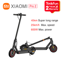 Xiaomi-patinete eléctrico Mi Pro2 Smart Mijia, Control por aplicación, E-ABS, freno de seguridad, 3 segundos, plegable, rápido, 600W, 25km/h, 45KM de larga distancia