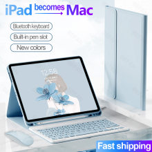 For iPad 9.7 2017 2018 10.2 2019 2020 10.9 5th 6th 7th 8th Keyboard Mouse Case For iPad Air 1 2 3 4 Pro 9.7 10.5 11 Funda Cover