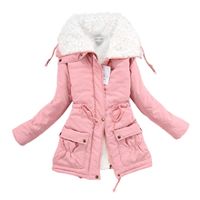 Ropa de invierno para mujer, de forro polar Parka de piel de cordero, abrigos y chaquetas gruesos para mujer, Parkas cálidas, chaqueta de invierno de tallas grandes para mujer