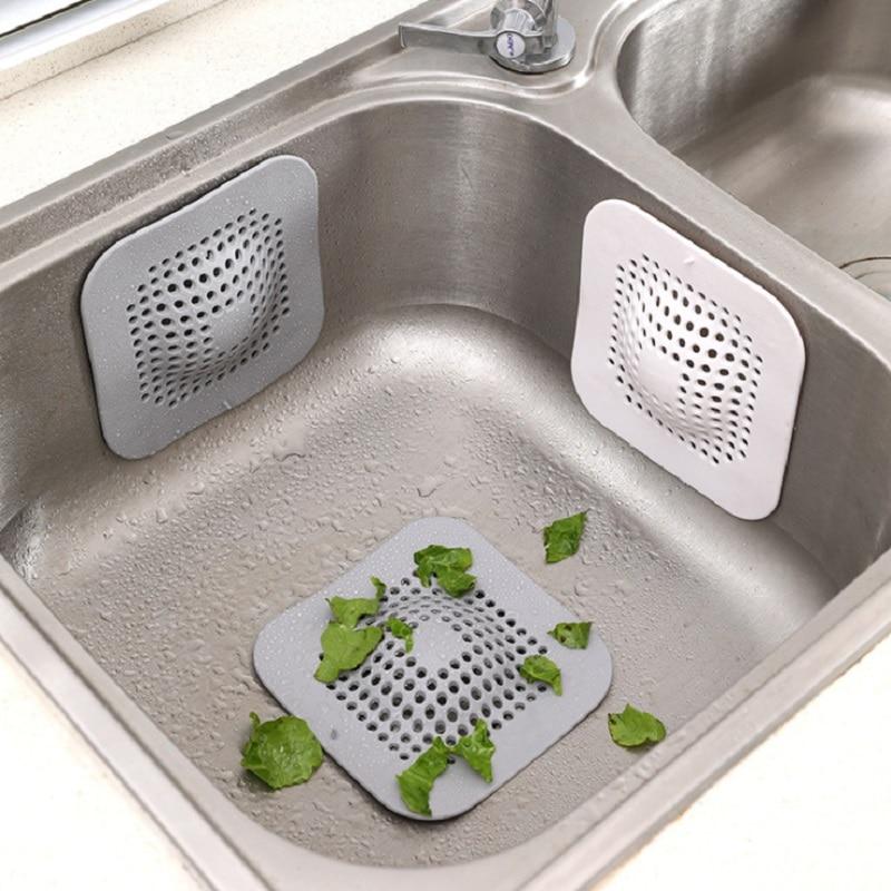 Sink Drain Strainer Hair Catchers Rubber Shower Bathtub Floor Filter Water Stopper Bathroom Deodorant Plug Kitchen Accessories
