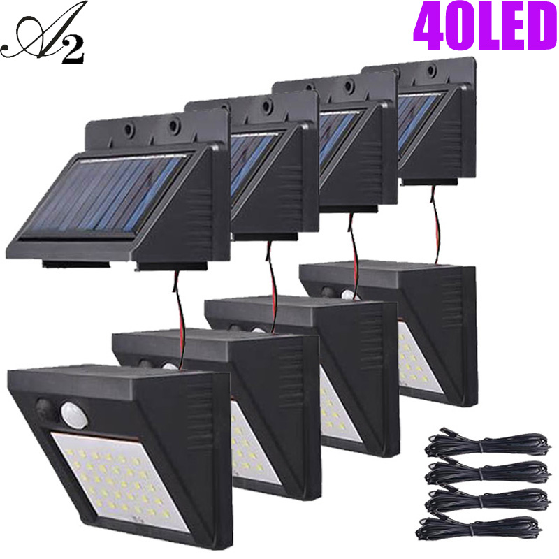 A2 Solar Night Light 40 80LED Garden Lamp Motion Sensor Used Solar Energy Power Suit Home Outdoor Street Yard Path Fence