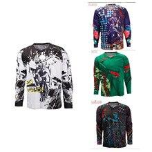 New Colorful MTB Motorcycle Jerseys Men DH Downhill Jersey Bike Bicycle Cycling Jerseys Motocross Shirt Custom Clothing #S3