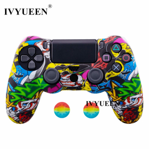 Image 4 - IVYUEEN for Sony Dualshock 4 PS4 DS4 Slim Pro Controller Silicone Camo Case Protective Skin + Thumb Grip Caps for PlayStation 4