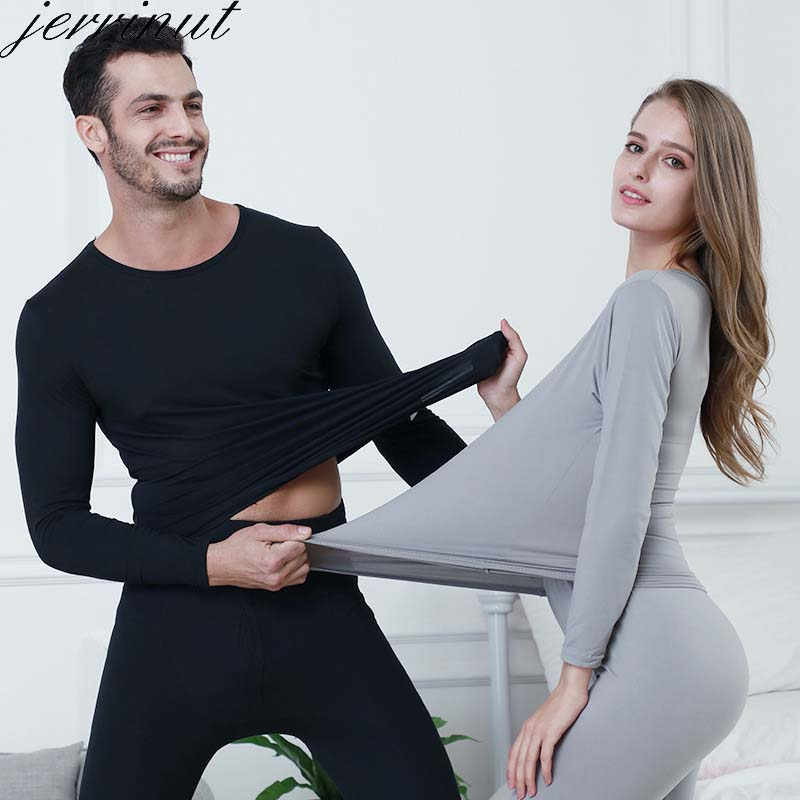 Jerrinut Plus Size Long Johns For Women Man 3XL 4XL 5XL 6XL Thermal Underwear Set Winter Wear Female Male Warm Suit Large Size