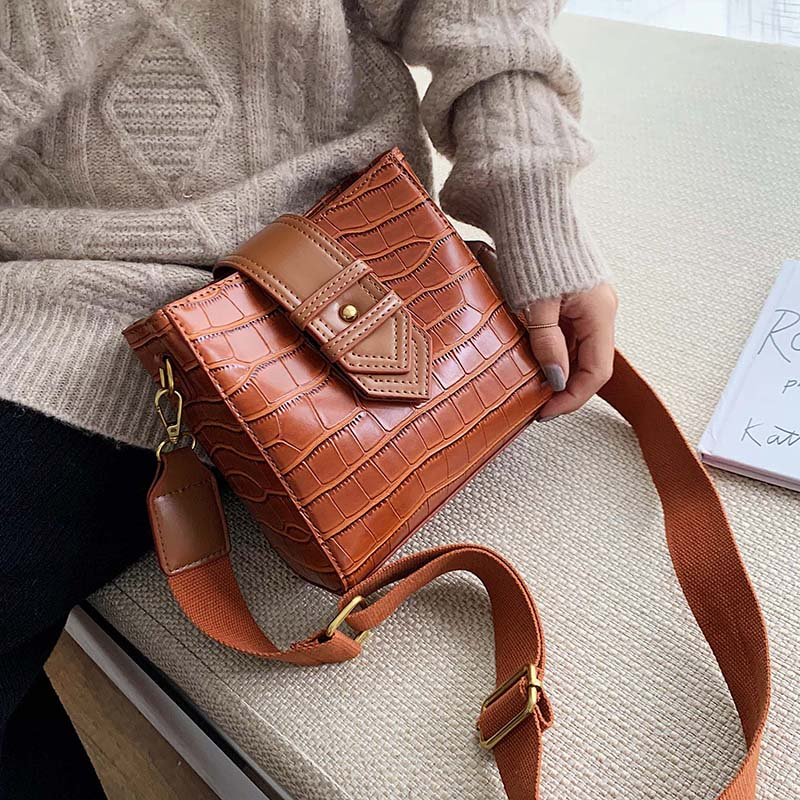 Mini PU Leather  Stone Pattern Crossbody Bags For Women 2020 Shoulder Messenger Bag Female Travel Handbags And Purses