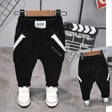 גובה בני מלא אורך ספורט מכנסיים ילדי ילדים עבור אביב סתיו סתיו כותנה 2 6years 90 130cm