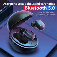 цена на Bluetooth V5.0 Earphone Wireless Earphones Stereo Sport Wireless Earbuds Headset For iPhone Xiaomi With Charging Box