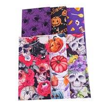 6 шт 50 см 100% хлопок ткань материал для ручной работы Хэллоуин