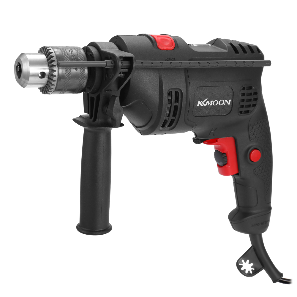 Multifunctional High Power 220V Electric Drill Electric Hammer Dual-use Adjustable Speed Positive Negative Rotation Tool Kit