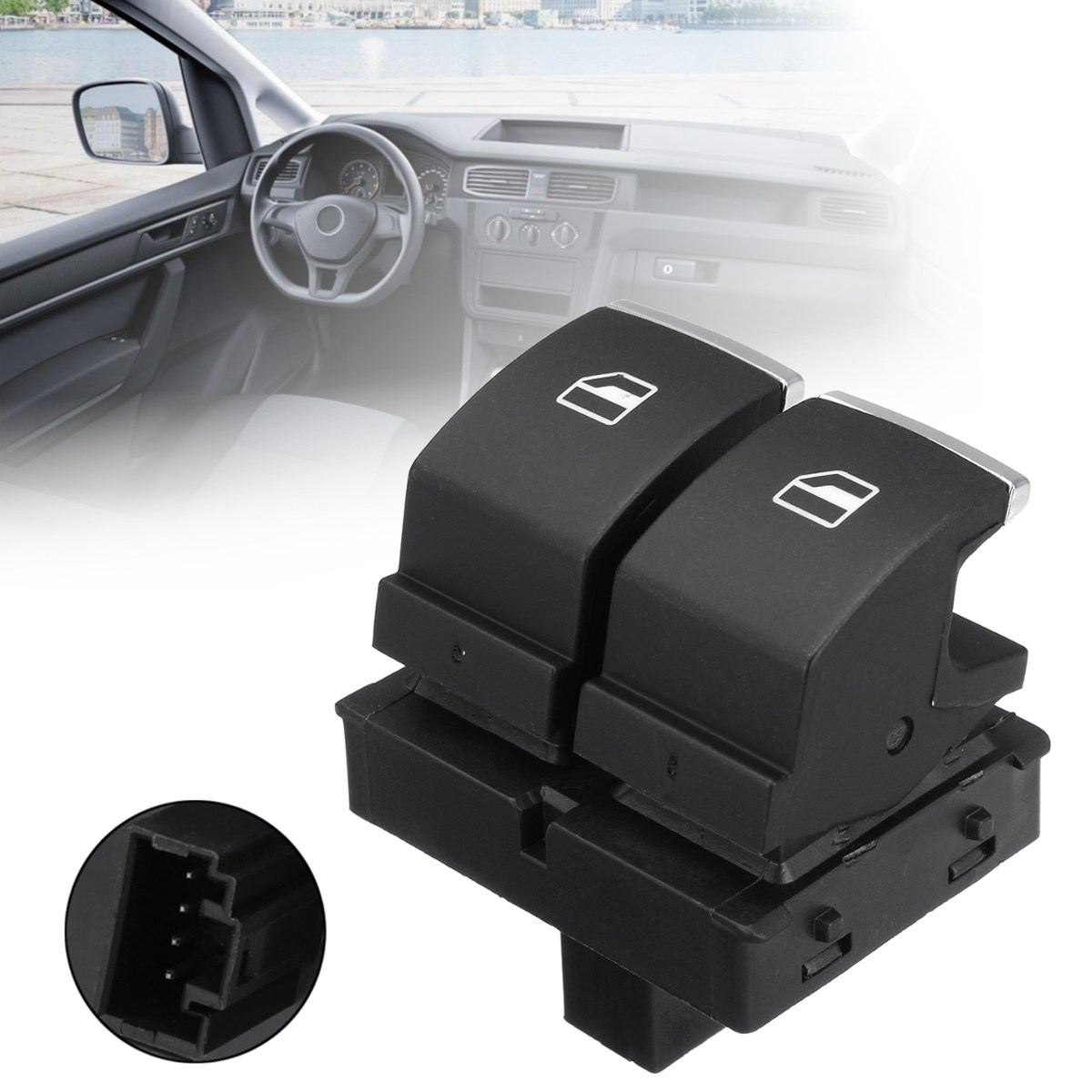 4 Pins ABS Front Driver Side Electric Power Window Switch For VW/Passat/EOS/Golf/Touran/GTI 2010 2011 2012 2013 2014 2015 2016 image