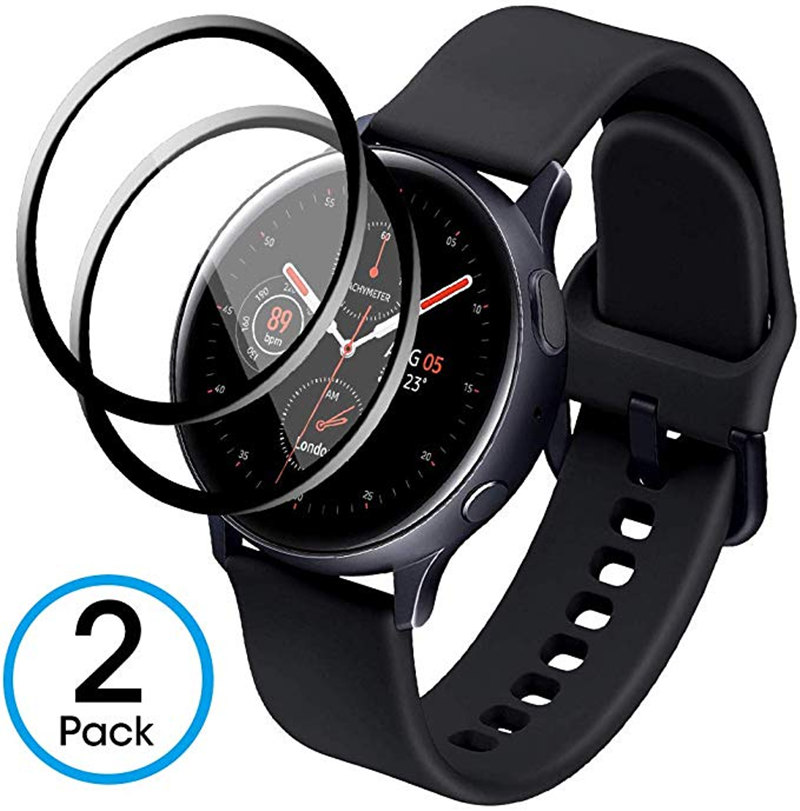 Glass Screen Protector For Samsung Galaxy Watch Active 2 44mm 40mm Ultra Hardness HD Clear Film Full Coverage Anti-Scratch
