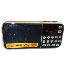 L 088AM Dual Band Wiederaufladbare Tragbare Mini Pocket Digital Auto Scan BIN FM Radio Empfänger mit MP3 Musik Audio Player Lautsprecher