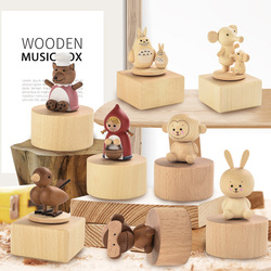 Musical Boxes Wooden Music Box Wood Crafts Retro Birthday Gift Children Vintage Home Decoration Accessories Hot Kids Gifts