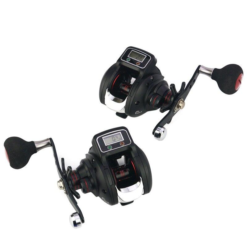 Baitcasting moulinet de pêche avec compteur de ligne 13 + 1 roulements à billes blindés 6.3: 1 moulinets de pêche avec manivelle KH889