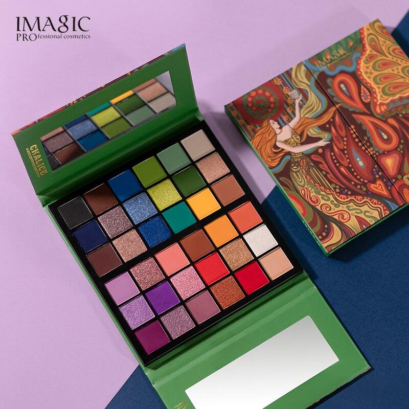 IMAGIC макияж тени для век палитра для макияжа Кисти 36 Цвет Shimmer пигментированные тени для век, палитра, для макияжа, палитра для макияжа TSLM1