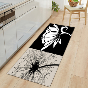 Kitchen Mat Entrance Doormat 3D Flower Pattern Home Floor Mat Bedroom Decoration Hallway Long Strip Carpet Bathroom Non-Slip Rug