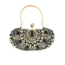 Clutch Bag 2020 Women's Black Evening Shiny Handbags Bride Wedding Banquet Dress Accessories Shoulder Dumpling