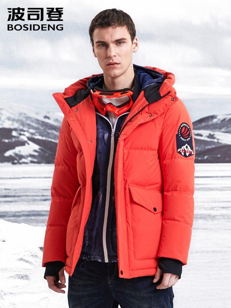 BOSIDENG New Men's Down Jacket Mid-long  Hooded Down Jacket High Quality Waterproof Warm Thicken B90142029