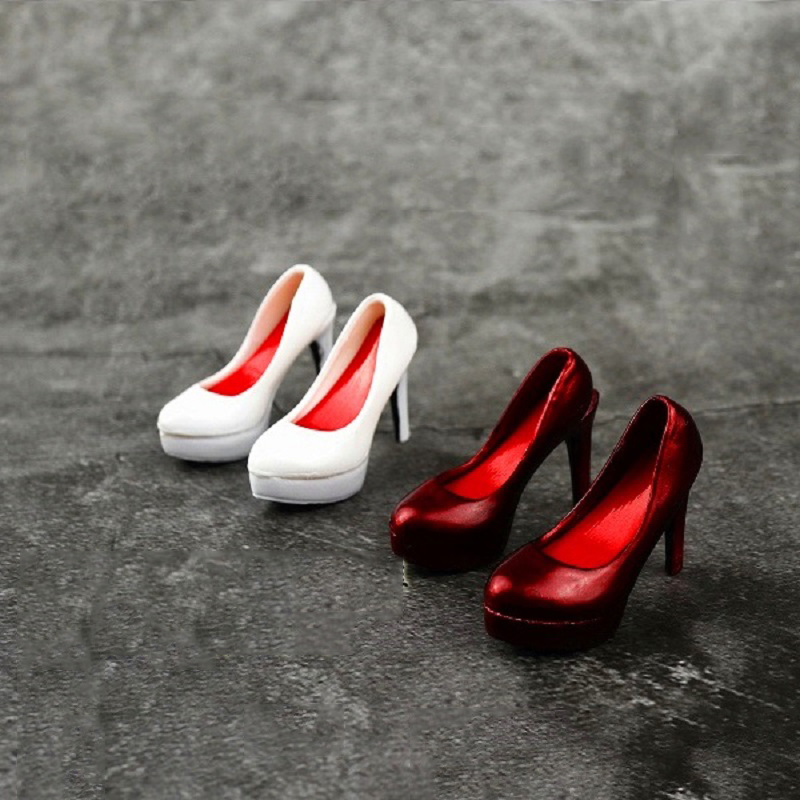 1/6 Women's High Heels Pumps Shoes Models for 12''Seamless Bodies Figures Toys Gifts AccessoriesAction & Toy Figures