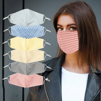 adult Mouth Masks plaid Print Face Mask Fabric women Mouth Cover Reusable Mask masque en tissu mondkapjes wasbaar image