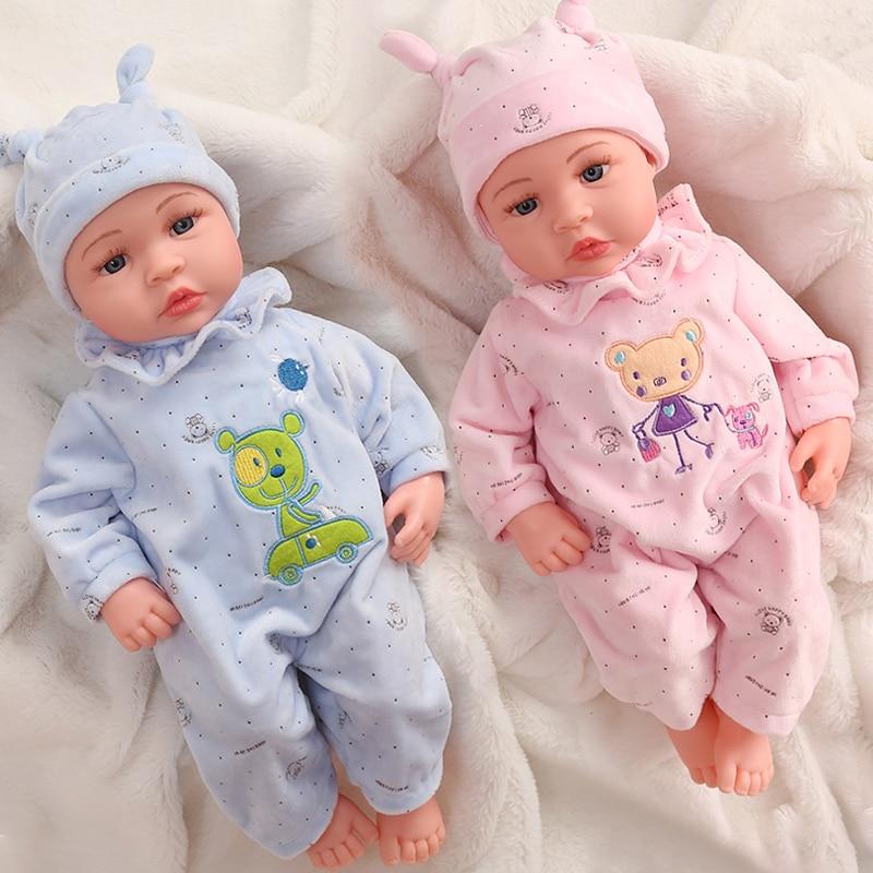 45cm preto silicone renascer bonecas do bebê sem função silicone reborn bebe boneca realista real brinquedos do bebê surpresa presente para crianças