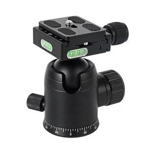 Image 4 - BGNing 360 Degree Panorama Ball Head Tripod Camera Mount Stand  Phone Holder Clip XJ 8 Flashlight Microphone With Spirit Level